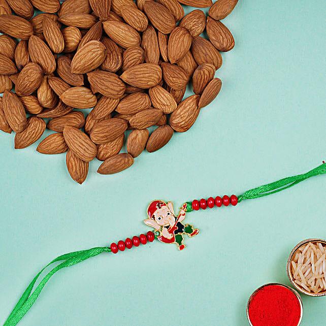Appealing Bal Ganesha Kids Rakhi And Almonds