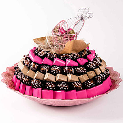 Baby Girl Chocolates and Dates Tray