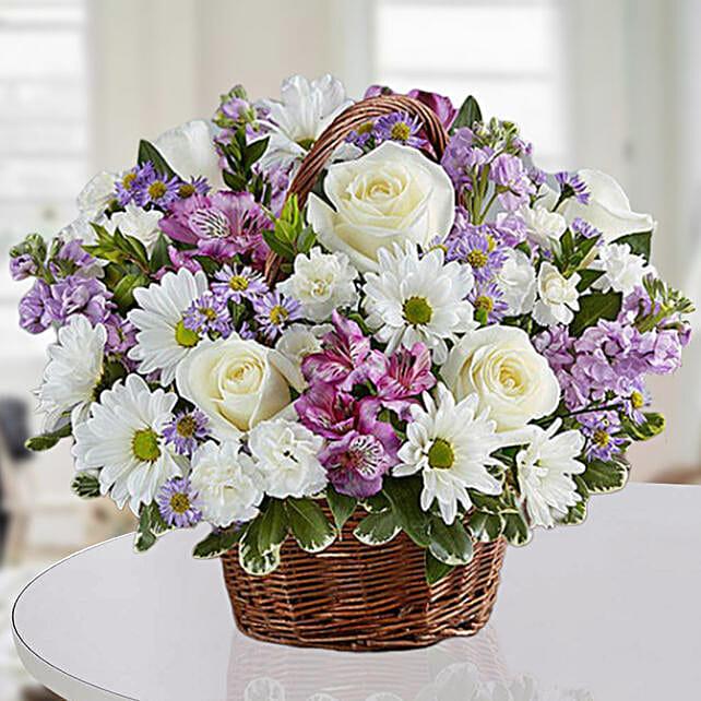 Basket Of Royal Flowers