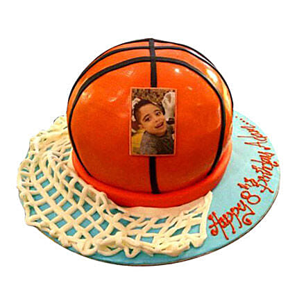 Basketball Ball Cake:Photo Cake Delivery in UAE