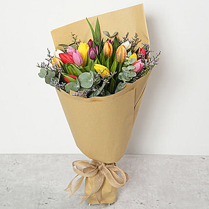 Beautiful Tulips Bouquet:Send Tulip Flowers to UAE