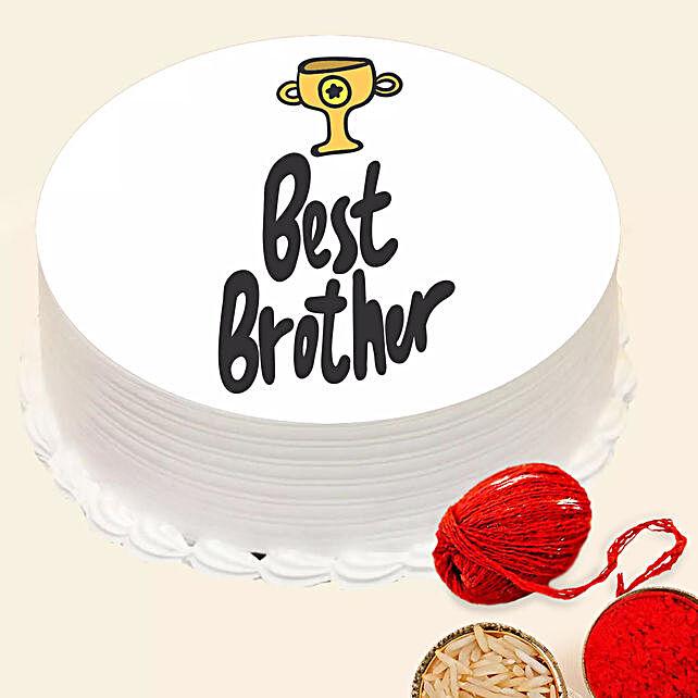 Bhaidooj Best Brother Cake:Send Bhai Dooj Gifts to UAE