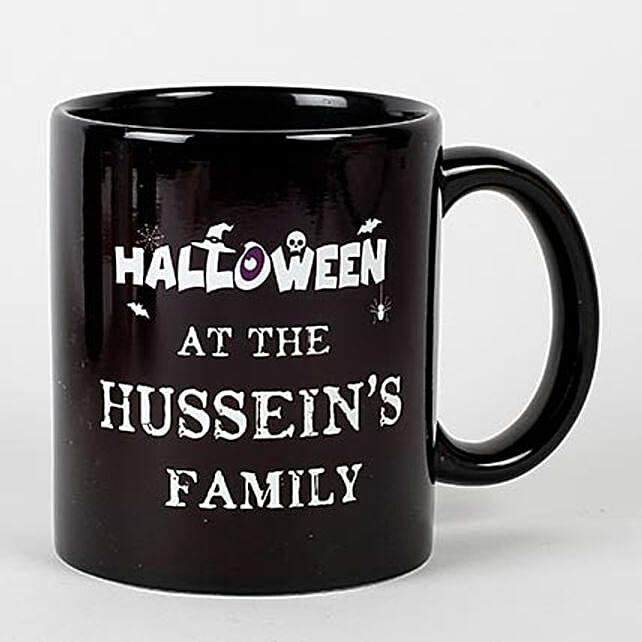 Black Creepy Halloween Mug