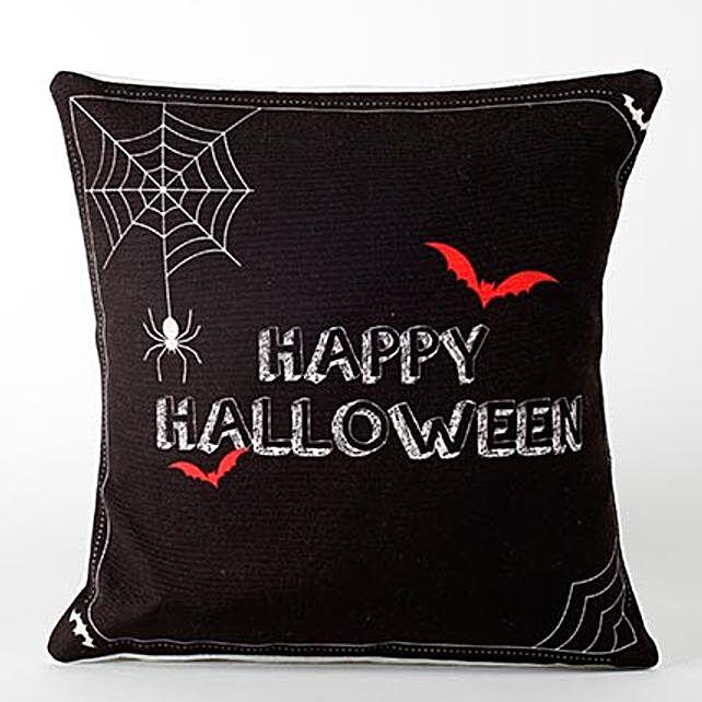 Black Happy Halloween Cushion