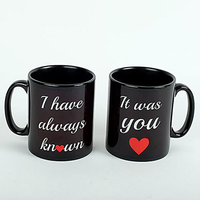Black Love Mugs:Gifts for Girlfriend in UAE
