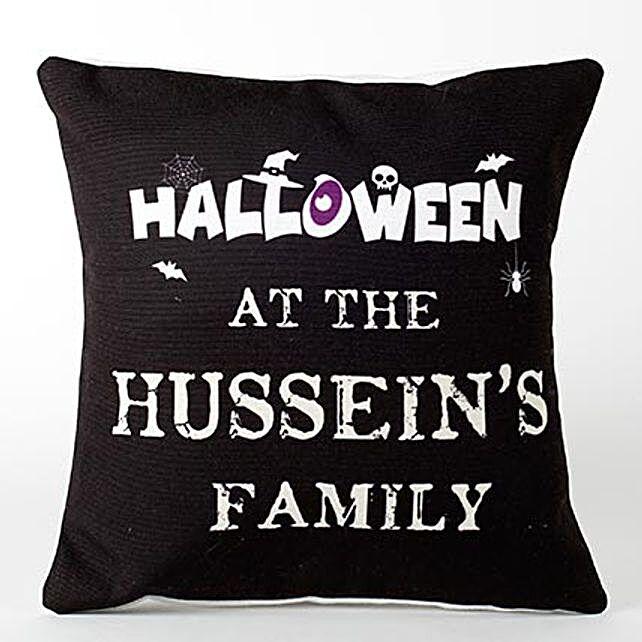 Black Spooky Halloween Cushion