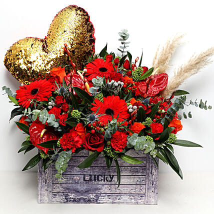 Box Of Love and Flowers