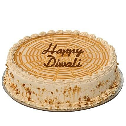 Butterscotch Diwali Cake