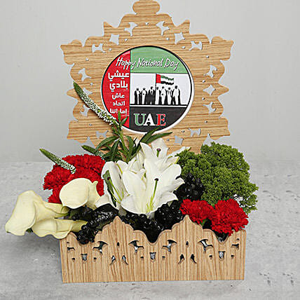 Carnations and Lilies in Basket