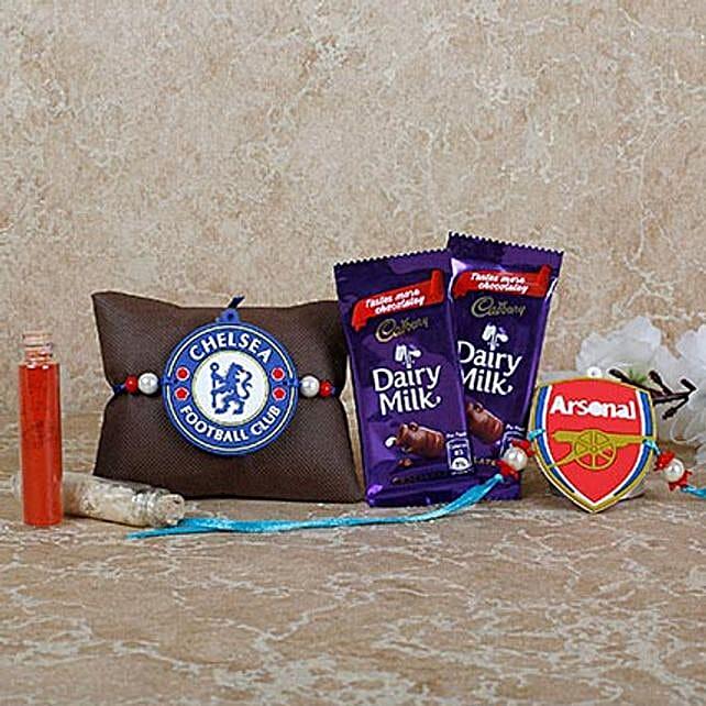 Chelsea FC Rakhi Diar Milk Combo