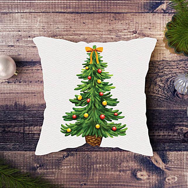 Chirstmas Tree Printed Cushion