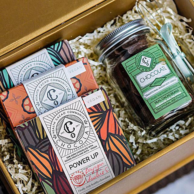 Chocolate Bars and Hot Chocolate Gift Box