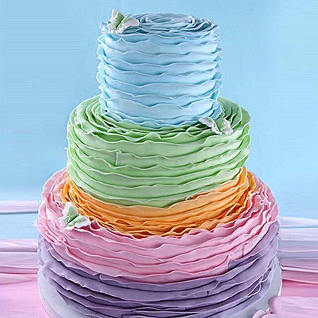Colourful Layered Cake 9 Kg