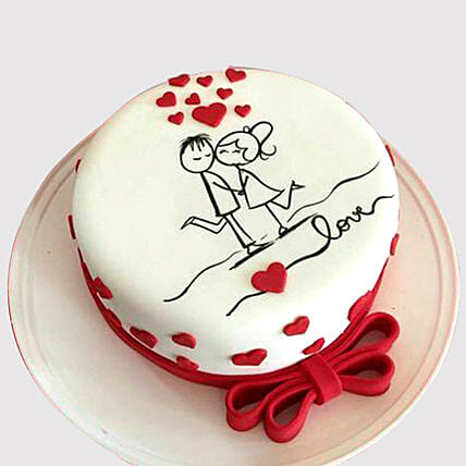 Couple In Love Cake