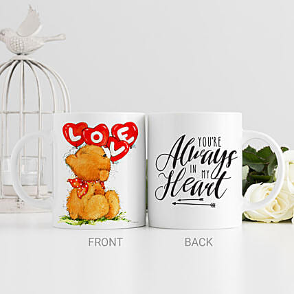 Cute Teddy White Mug