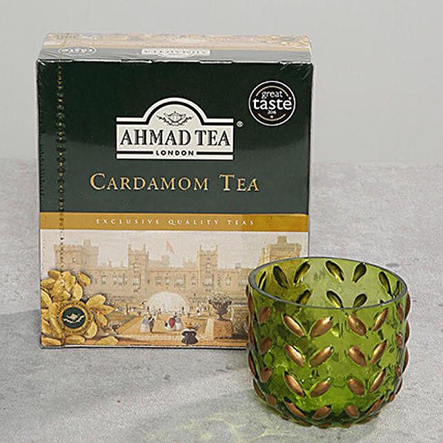 Decorative Glass and Tea Light Combo