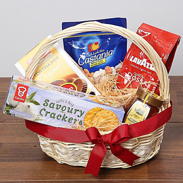 Delicious Basket Of Snacks