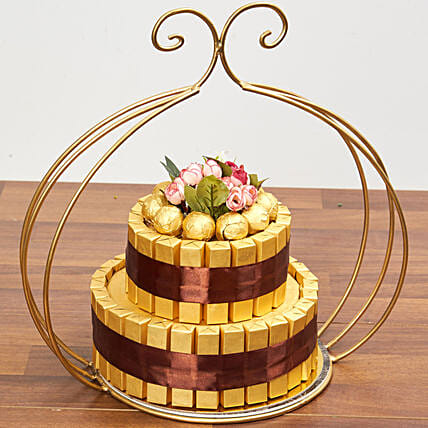 Delicious Two Tier Chocolate Tower:Send Diwali Chocolates to UAE