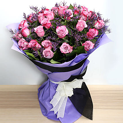 Dual Shade Purple Roses Bouquet