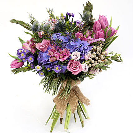 Elegant Mixed Roses and Tulips Bouquet