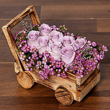 Elegant Purple Roses Arrangement