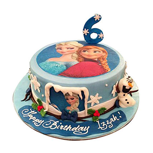 Elsa N Anna Cake