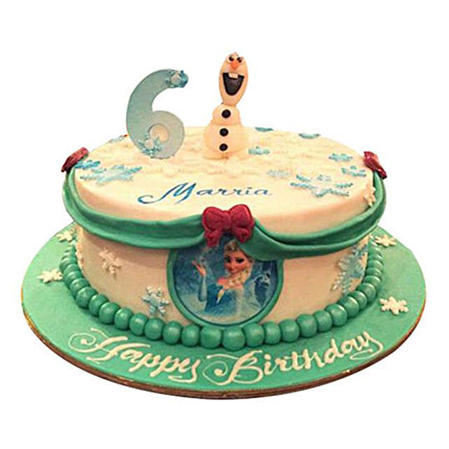 Elsa N Olaf Cake