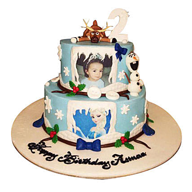 Elsa theme Cake:Photo Cake Delivery in UAE
