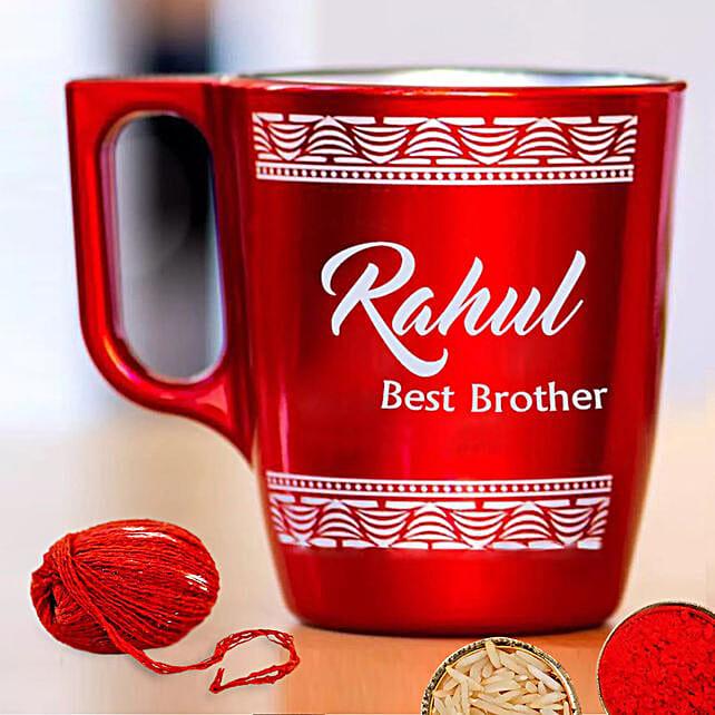 Engraved Mug for Bhaidooj:Bhai Dooj Gift Delivery in UAE