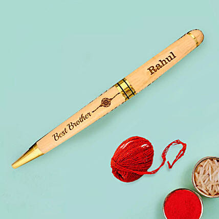 Engraved Pen for Bhaidooj