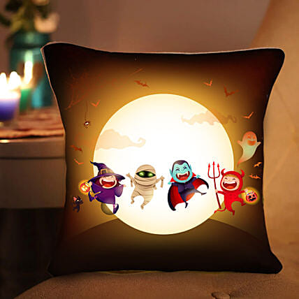 Evil Attack LED Cushion:Personalised Cushions to UAE