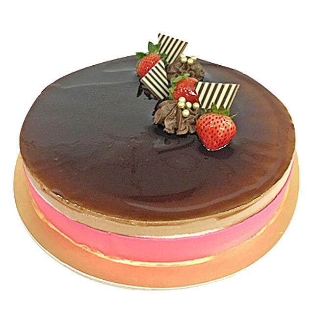 Exotic Chocolate Fraisier Cake