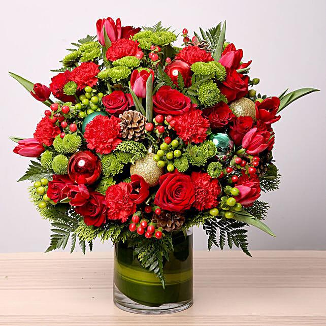 Exotic Flower Vase Arrangement
