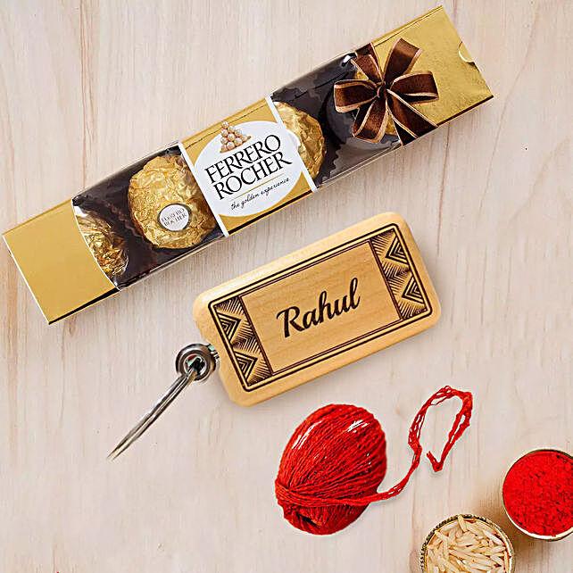 Ferrero and Keychain for Bhaidooj:Bhai Dooj Gift Delivery in UAE