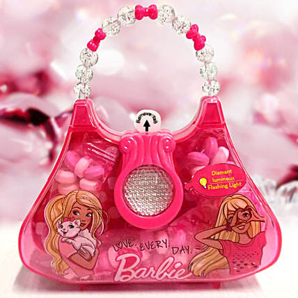 Flashing Pink Bag Toy With Candies