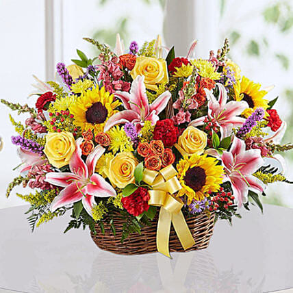Flower Basket Vibrant