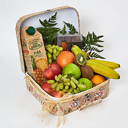 Fruity Delights with Dates:Fruit Basket Delivery UAE