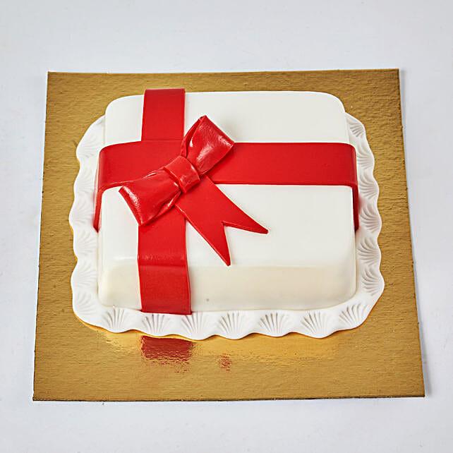 Gift Wrapped Mono Cake