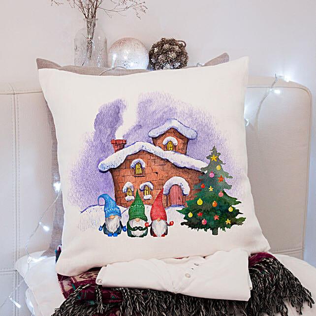 Gnome and Christmas Tee Cushion
