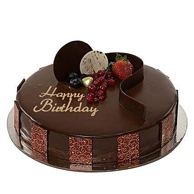 Half Kg Eggless Chocolate Truffle Birthday Cake
