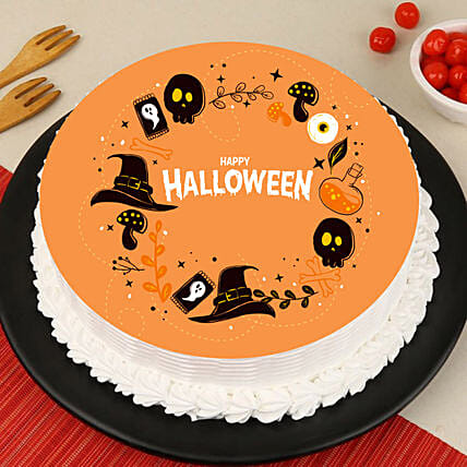 Halloween Black Magic Photo Cake