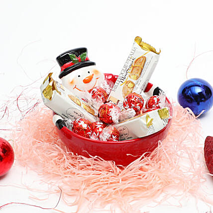 Happy Snowman Treats:Christmas Gifts for Kids to UAE