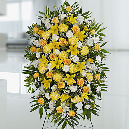 Happy Yellow Flower Stand