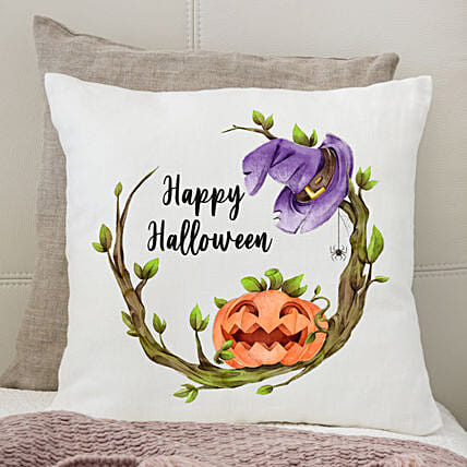Hat n Pumpkin Halloween Cushion