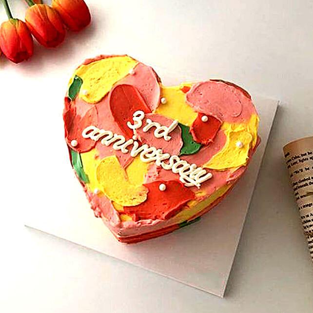 Hues Of Love Cake Gluten Free:Heart Shaped Cake to UAE