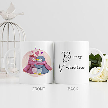 Hugs And Kisses Printed Mug:Send Hug Day Gifts to UAE