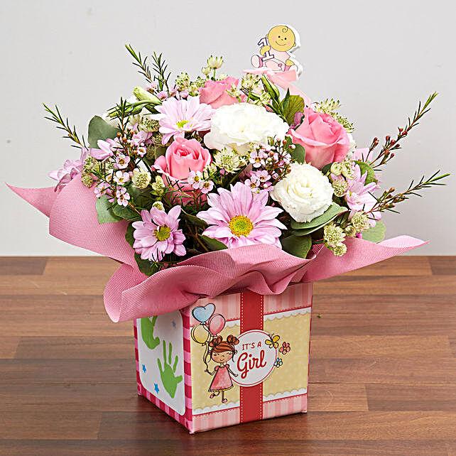It's A Girl Flower Vase