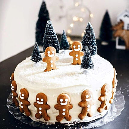Jolly Christmas Gingerman Cake