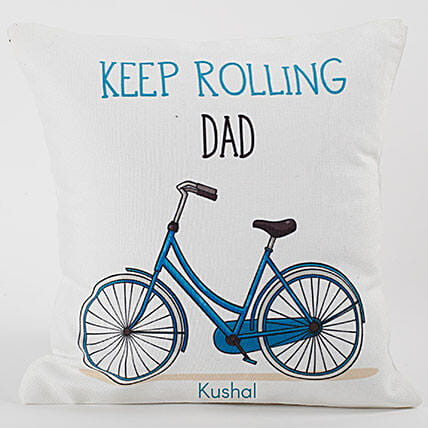 Keep Rolling Personalized Cushion
