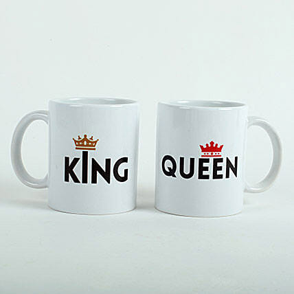 King N Queen Couple Mugs:Gifts for Girlfriend in UAE
